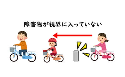 自転車をぶつけたときの様子