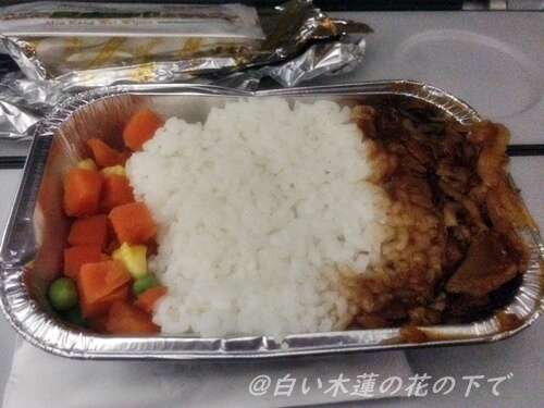 天津航空機内食