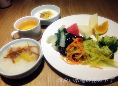 中国最終日の朝食