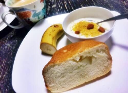 15分早めに切り上げた食パン