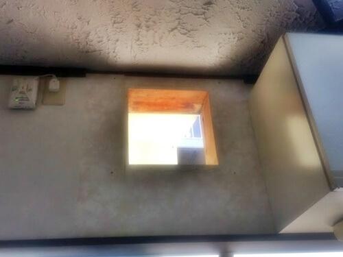レンジフードを外した壁