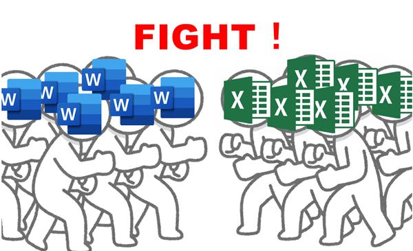 Word派とExcel派の戦い