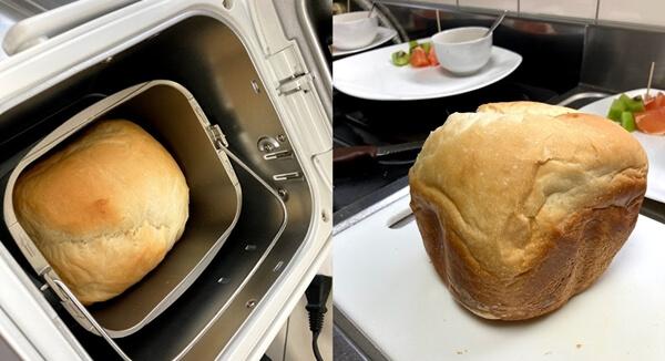 ぱんクラブで焼いたハーフ食パン